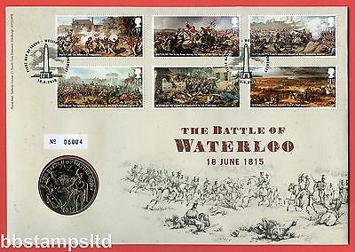 2015 RMC144 Centenary of Battle of Waterloo £5 Coin Cover. SG. 3724 - 3729