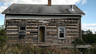BEAUTIFUL Antique Log Cabin 22' x 32' Hand Hewn Oak Logs Story and a Half-Loft