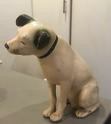 """Vintage RCA Victor phonograph dog 10"""" advertising statue"""