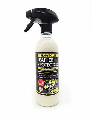 Power Maxed Leather Protector Ready To Use 500ml Spay Bottle PMLP500P1  T48
