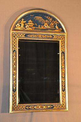 Labarge Oriental Decorative Gilt Beveled Mirror