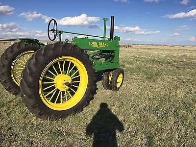 1936 John Deere Unstyled A Round Spoke Wheels New Tires B G D H