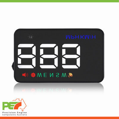 """A5 HUD Head Up Display 3.5"""" GPS Windscreen Speed Warning Guage For Fiat Croma"""