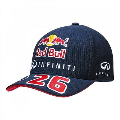 CAP Infiniti Red Bull Racing Formula One 1 F1 Daniil Kvyat No.26 Curved Peak AU