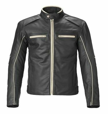 Triumph Motorcycles Men's Black Leather Monmouth Jacket (MLHA16101)