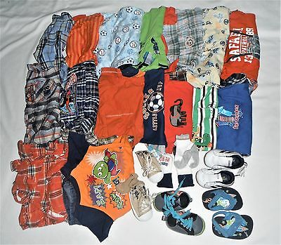 Lot Baby Boy Summer Clothes 6-9 12 Months 6/9 Infant Rompers Outfit Shoes Socks