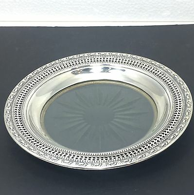 Frank M. Whiting Sterling Silver & Crystal Candy Dish Talisman Rose