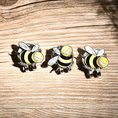 3 PCS Golf Marker with Bee Shape Plus Hat Clips Golf Ball Markers