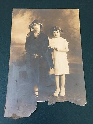 Vintage 4 X 6 Woman And Girl Posing Photograph