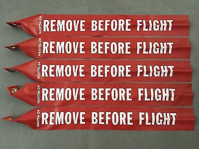 "REMOVE BEFORE FLIGHT STREAMER 24"" Long x 3"" Wide NAS1756-24 US Pack Of 5. USA"