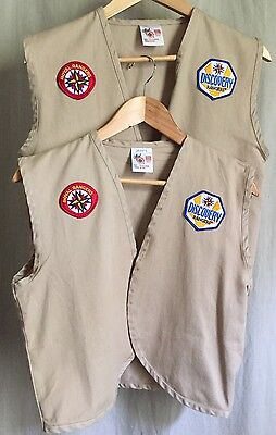 Royal Rangers Vest Official Gospel Publishing House Lot Of 2 Size Youth XL