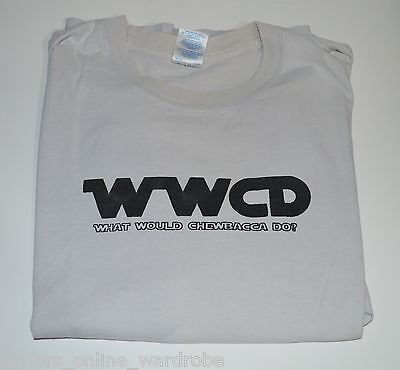 Very RARE Star Wars T-Shirt WWCD What Would Chewbacca Do? XL X-Large Wookie Tee