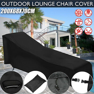 Garden Lounge Chair Cover Pool Sunlounger Sun Recliner Bed Outdoor Protector