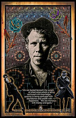 """Tom Waits  - 11x17"""" poster (signed by artist) -- vivid colors - very detailed"""