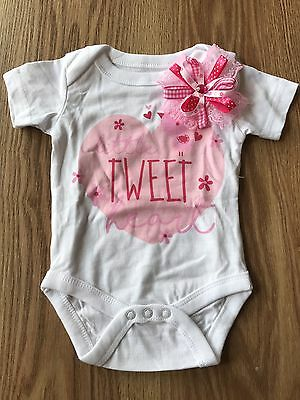 Baby girl Vest With Ribbon 0-3 Months
