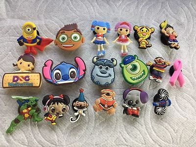 Lot Of 18 Shoe Charms Fits Crocs 18 Clog Charms Sully Mike Pompoms Shoe Charms