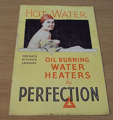 "VTG 1920's ADVERTISING Brochure/Booklet~""PERFECTION WATER HEATERS""~Oil Burning~"