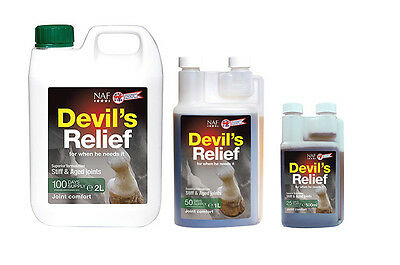 NAF Devil's Relief - Devils Claw - Joint Supplement for Horses 500ml - 1L - 2L