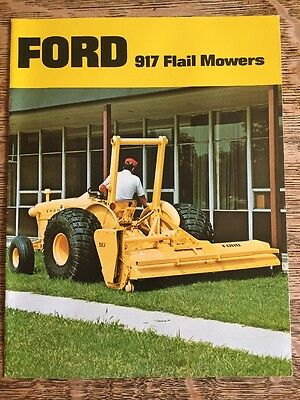 Vintage Ford 917 Flail Mowers Industrial Lawn Mower for Tractor Brochure