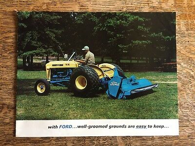 Vintage Ford Industrial Lawn Mower Brochure Blue for Tractors