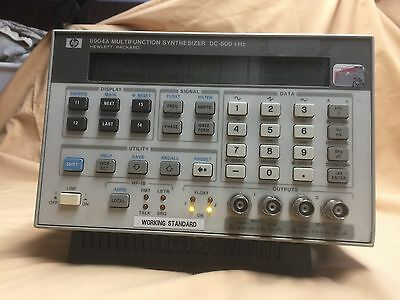 HP Agilent 8904A Multifunction Synthesizer DC-600kHz, Signal Generator