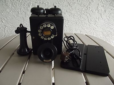 Western Electric 333 Wall Telephone With #2Aa Dial & 143 Receiver