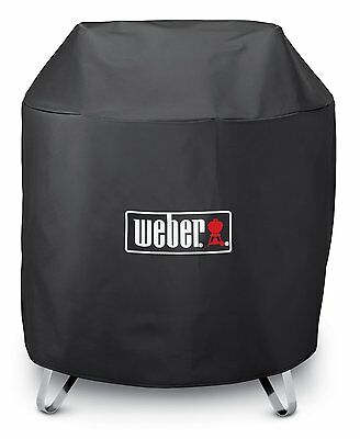 """Weber Factory Round Outdoor 28"""" Portable Fire Pit 3/4 Length Cover 7460"""