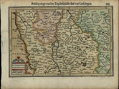 Lotharingia Luxembourg Belgium Holland Netherlands c.1628 Mercator minor old map