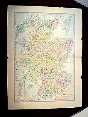 1889 Map, Scotland, Plate 6, Bradley'S Atlas Of The World