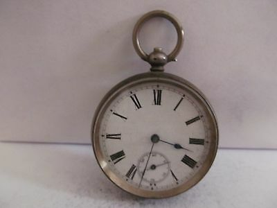 Swiss made pocket watch solid silver fair condition not working