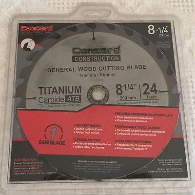Concord Construction 8-1/4-Inch 24 Teeth TCT General Wood Cutting Blade