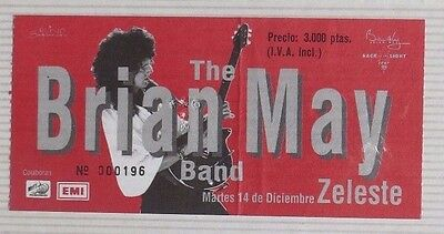 Brian May : Ticket Original!!!!!!  (Barcelona 1993) Spain