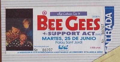 Bee Gees : Ticket Original !!!! (Barcelona 1991) Spain  !!!!!!