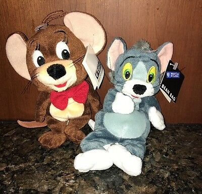 NWT Rare Tom and Jerry Bean bag plush toy Set From Warner Store RARE