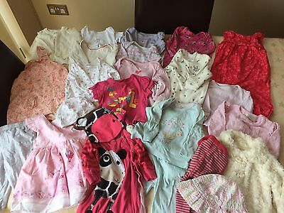 Girls Bundle Of Clothes Aged 3-6 Months