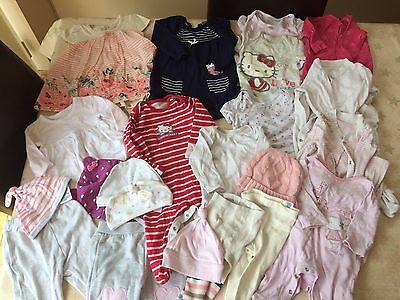 Girls Bundle Of Clothes Aged 0-3 Months