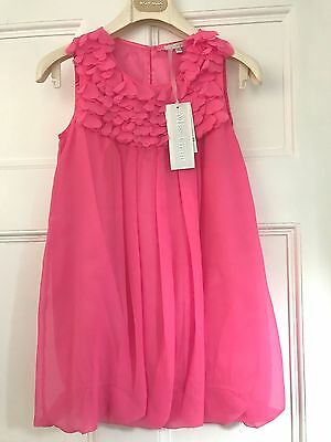 NWT~MISS GRANT~~Gorgeous Pink Petal Detail Lined Sleeveless DRESS~~9y 36
