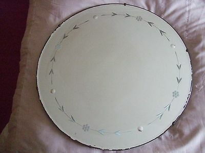 Vintage Bevelled Edge Antique Wall Mirror 50's with chain 51cm Diameter