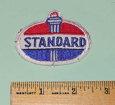 Vintage STANDARD Oil Sew On Patch Old Torch Design 2 1/4 inch X 2 inch