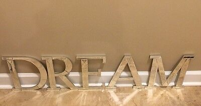 """NEW Pottery Barn Kids Mirrored Wall Letters """"DREAM"""""""