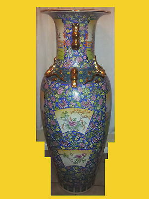 Large oriental vase (mansion style)  (4 ft 8 ins tall)
