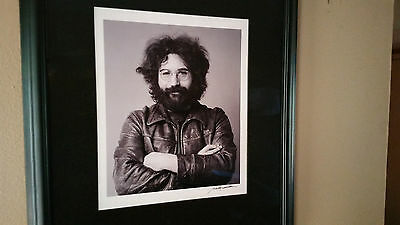 "Jerry Garcia photo 13""x11"" signed by Baron Wolman Grateful Dead matted and frame"