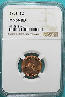 1961 NGC MS66 RED Lincoln Cent!! #A9212