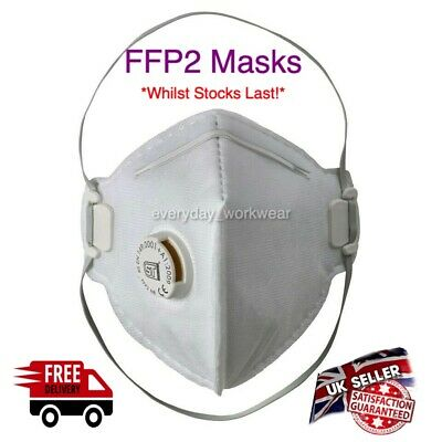 10 x Disposable Work Dust Masks Valved FFP2 P2 Respirator Face Breathing Face
