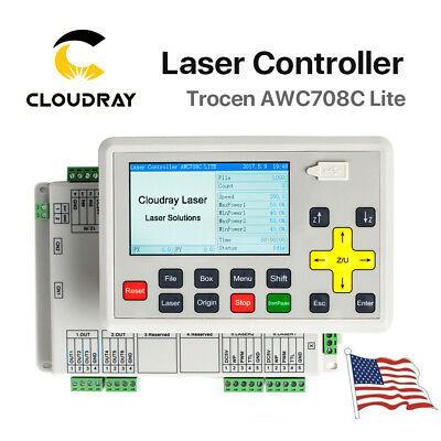 Anywells AWC708C Lite Laser Controller System for CO2 Laser Cutter USA Stock