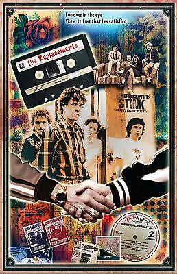 """The Replacements full-color 11x17"""" - (signed by artist) - poster - vivid colors"""