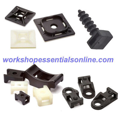 Cable Tie Mounts Self Adhesive-Eyelet Screw Mount-Saddle Cradle-Masonry Mount