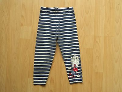 GIRLS 18-24 MONTHS NAVY/WHITE STRIPED LEGGINGS featuring girl with dog