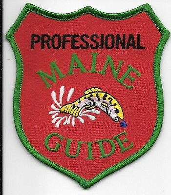 Maine State Guide Professional Red Green Fish Patch Me
