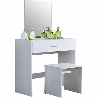Uli Dressing Table Set with Mirror Wooden Bedroom Furniture Make up Vanity New